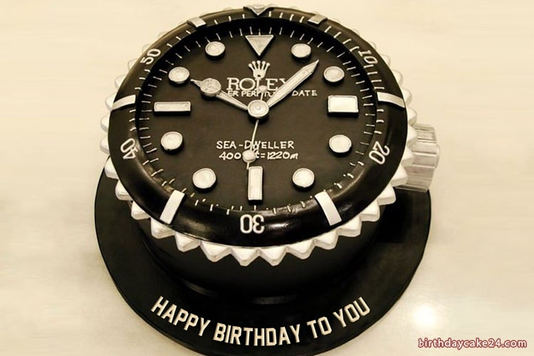 Superb Rolex Watch Birthday Cake For Men With Name Funny Birthday Cards Online Elaedamsfinfo