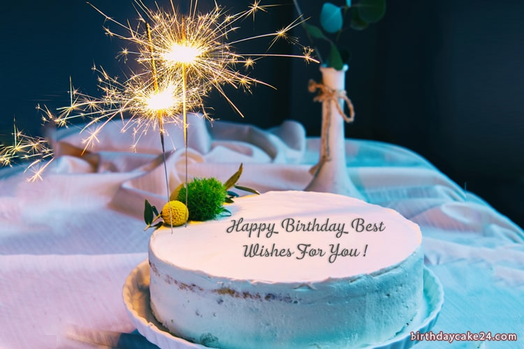 Marvelous Fireworks Birthday Cake With Name Edit Funny Birthday Cards Online Alyptdamsfinfo