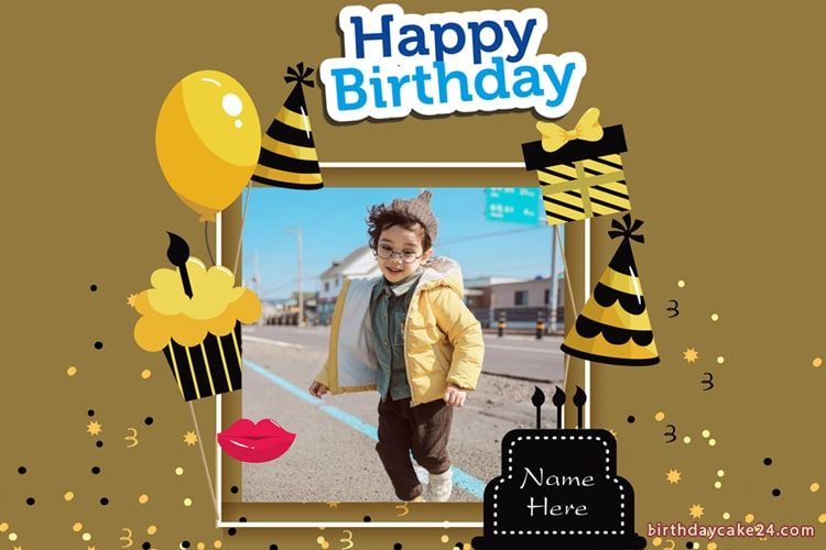 Free Happy Birthday Photo Frame For Boys