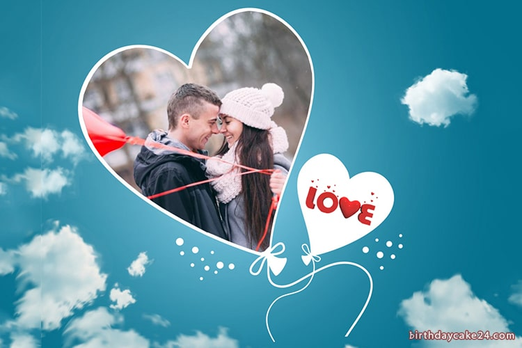 Heart Balloons Photo Frame Editor Online