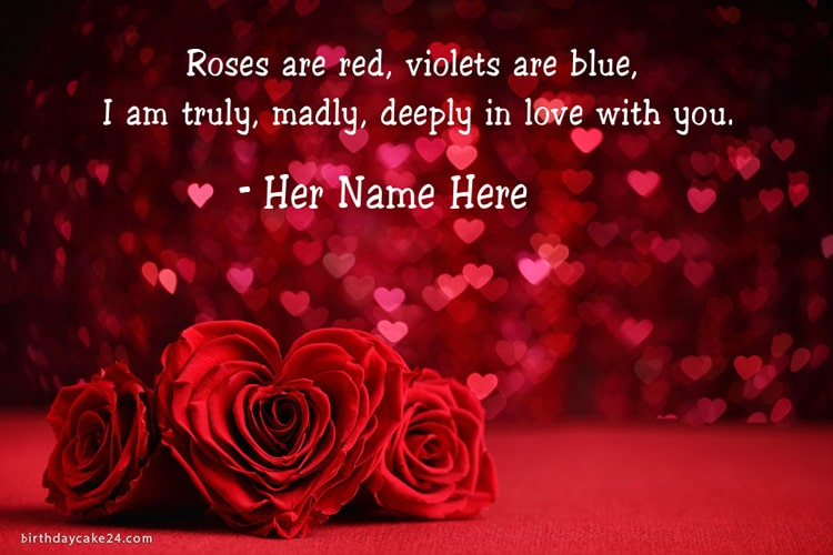 Love Quotes For Her Images With Name Edit
