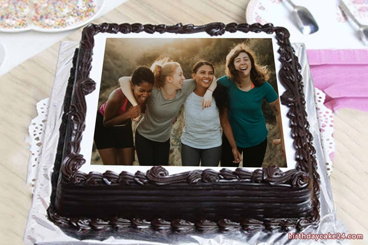 Easy Birthday Chocolate Cake With Photo