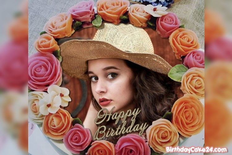 Create Lovely Flower Birthday Cakes With Photo Frame