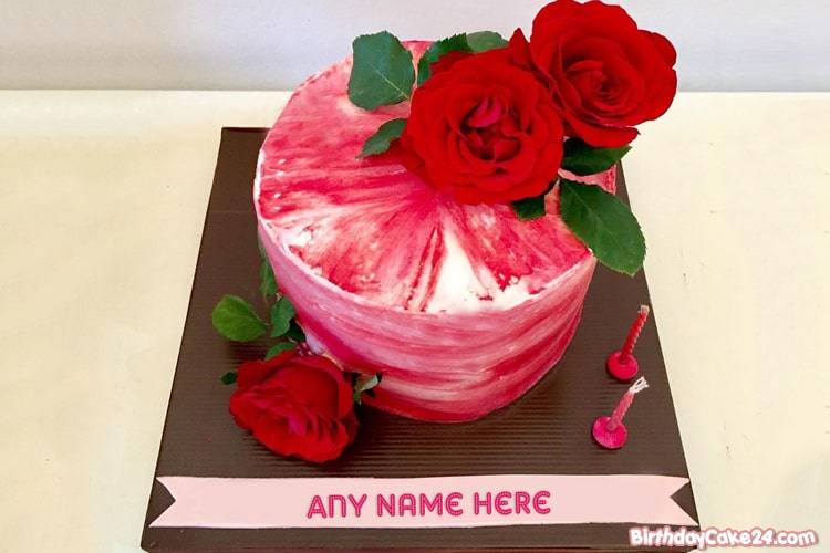 Best Rose Birthday Cake By Name Editing