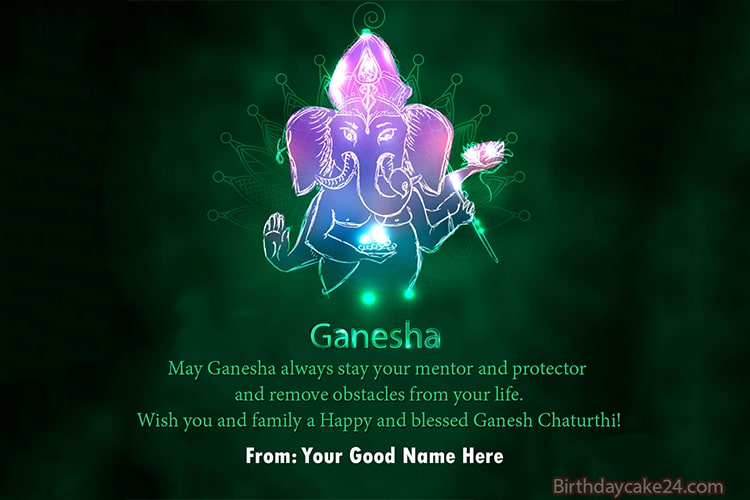 Make Ganesh Chaturthi Card With Name Edit