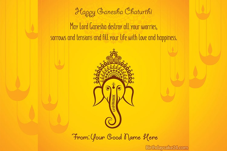 Ganesh Chaturthi Greeting Cards With Name Generator