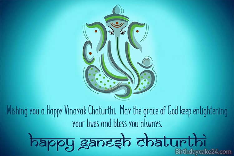 Ganesh Chaturthi Greeting Card Image With Wishes