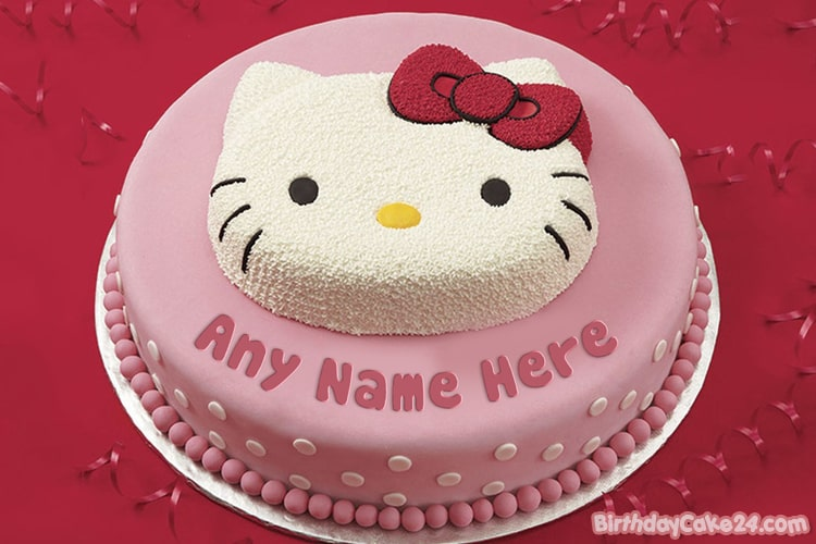 Magnificent Funny Hello Kitty Birthday Cakes With Name Editor Personalised Birthday Cards Paralily Jamesorg