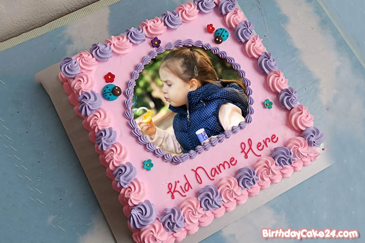 Happy Birthday Cake For Girls With Name And Photo Edit