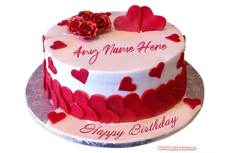 Love Birthday Cake With Name Editor