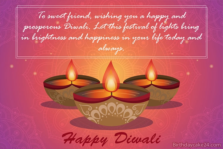 Happy Diwali 2020 Greeting Card With Name Editor