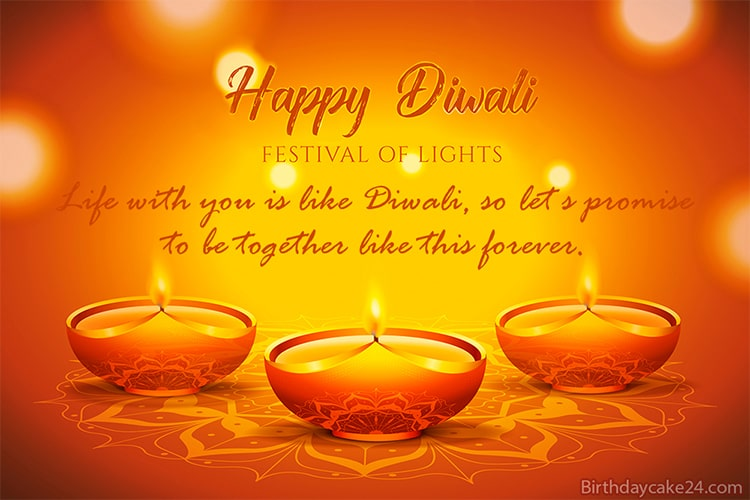 Diwali Greeting Card With Name Wishes