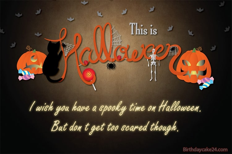 Happy Halloween Scary Cards With Name Wishes