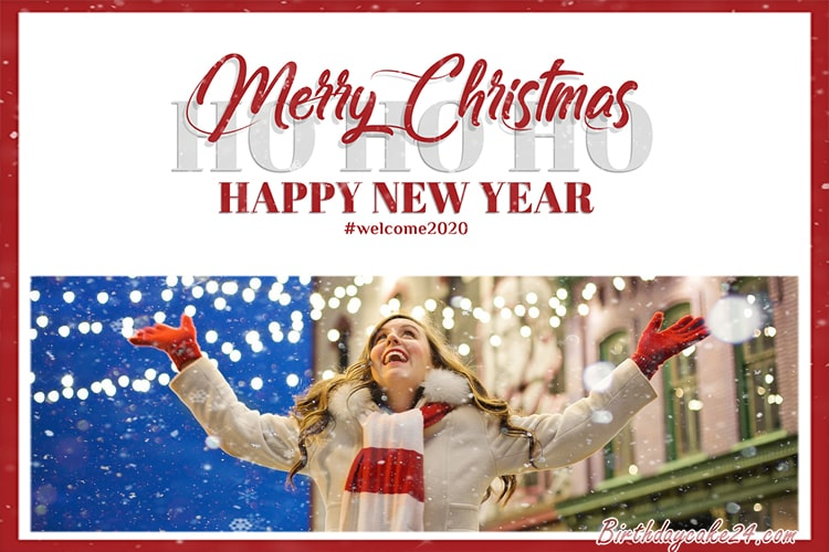Christmas And New Year 2020 Photo Frame Online Editing
