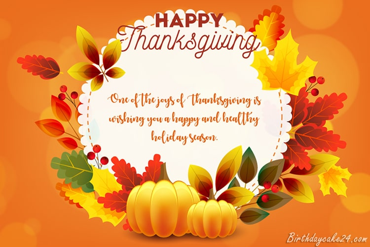 Happy Thanksgiving Greeting Cards With Name Wishes