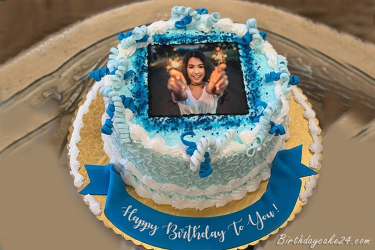 Latest Happy Birthday Cake With Name And Photo Edit