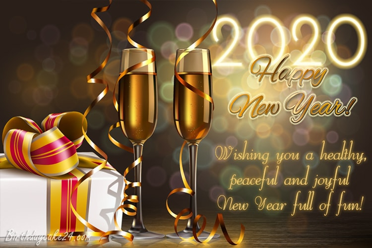 Champagne New Year's 2020 eCards & Greeting Cards Online