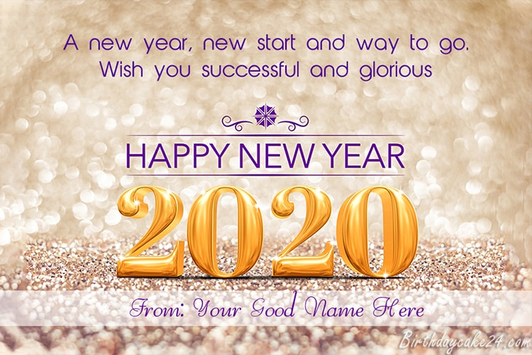 Happy New Year 2020 Cards With Name Edit