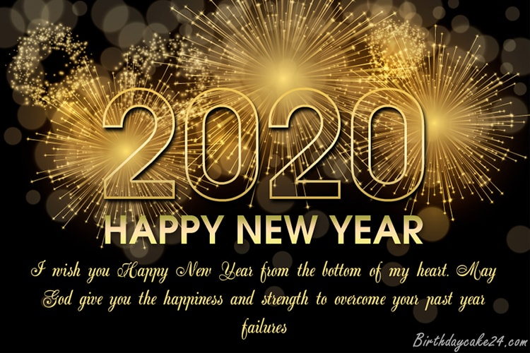 New Year 2020 Fireworks Wishes Cards Online Free