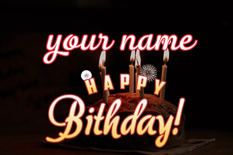 Create a happy birthday fireworks effect with  name