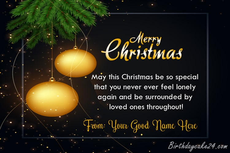 Write Your Name On Christmas Greetings Cards Online Free