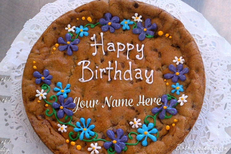 Cookie Cake Decorating Ideas Birthday With Name Edit