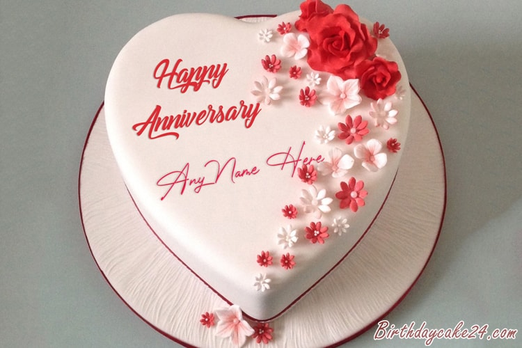 Happy Anniversary Cake by Name Editing