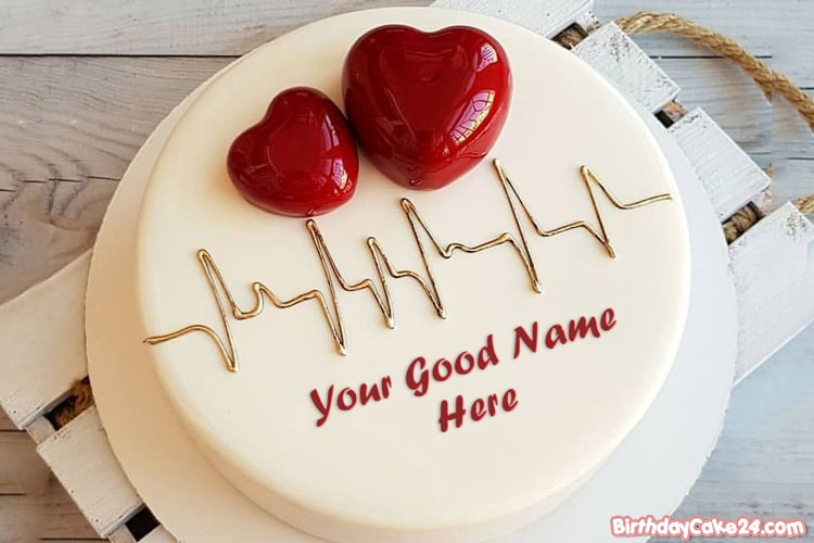 Fine Write Your Name On 3D Heart Birthday Cake Funny Birthday Cards Online Inifodamsfinfo