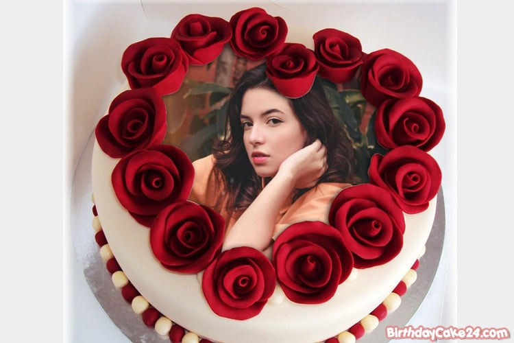 Romantic Rose Cakes With Photo Frame Editing
