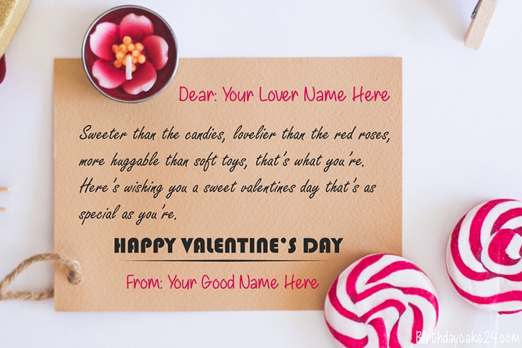 Create Personalized Valentine's Day Wishes Greeting Cards