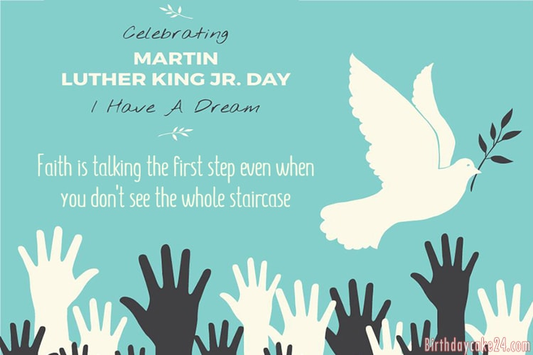 Personalize Martin Luther King Jr. Day Greeting Wishes Cards