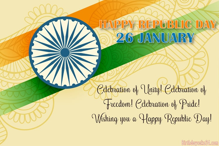 Free Happy India Republic Day Greeting Cards Online