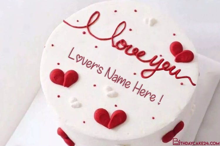 Romantic Love Wishes Cake Images With Name