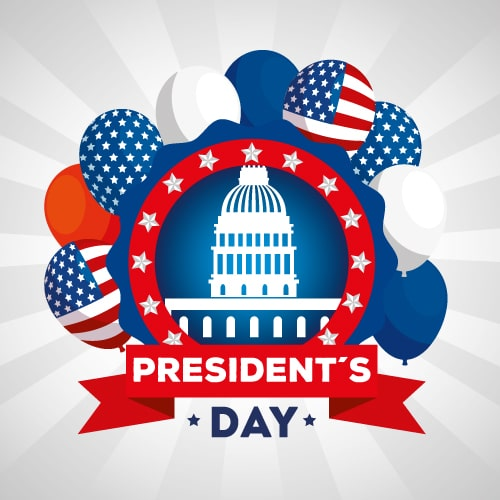 President's Day (USA) Wishes Greeting Cards