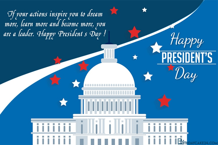 Free Presidents' Day Customizable Greeting Card