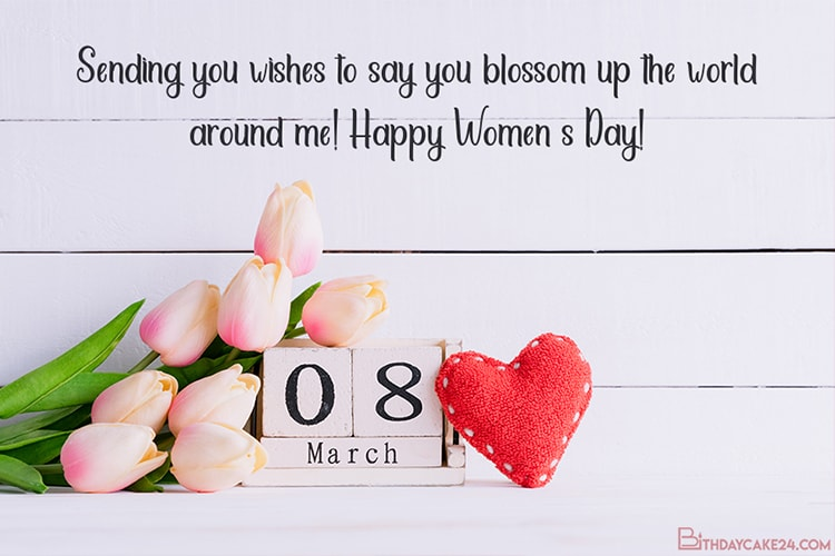 Flower 8 March eCards- Happy Women's Day Greeting Cards