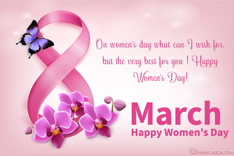 March 8th Happy Women's  Day Greeting Cards Images