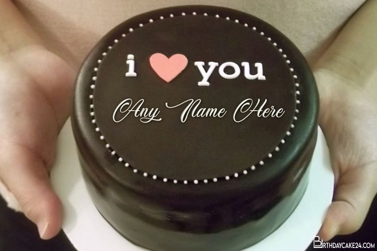 Outstanding I Love You Birthday Cake For Lover With Name Edit Funny Birthday Cards Online Fluifree Goldxyz