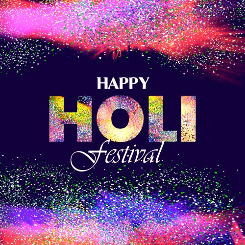 Happy Holi Festival of Colors Greeting Cards