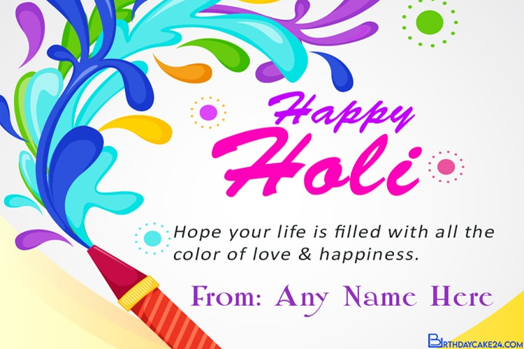 Holi Card for Best Friends With Name Edit