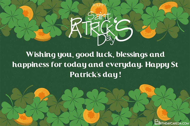 Make Personal St. Patrick's Day Wishes Cards Images