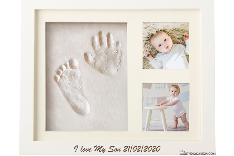Newborn Baby Handprint & Footprint Photo Frame Online
