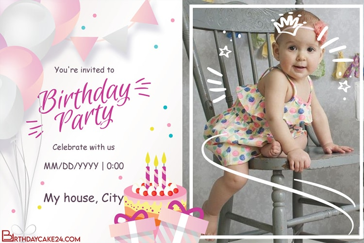 card for little girl Birthday or party card children/'s card.