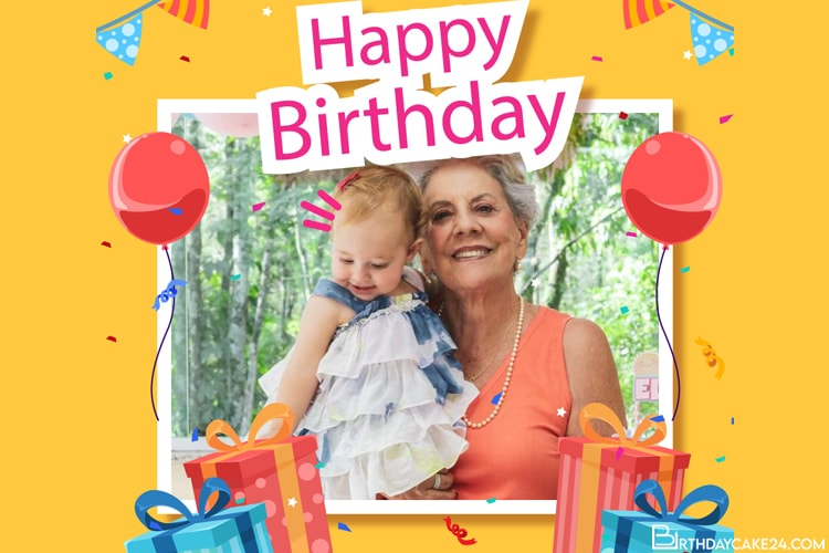 Children's Birthday Frame With Your Photo