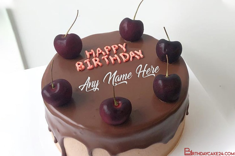 Happy Chocolate Birthday Cake By Name Generator