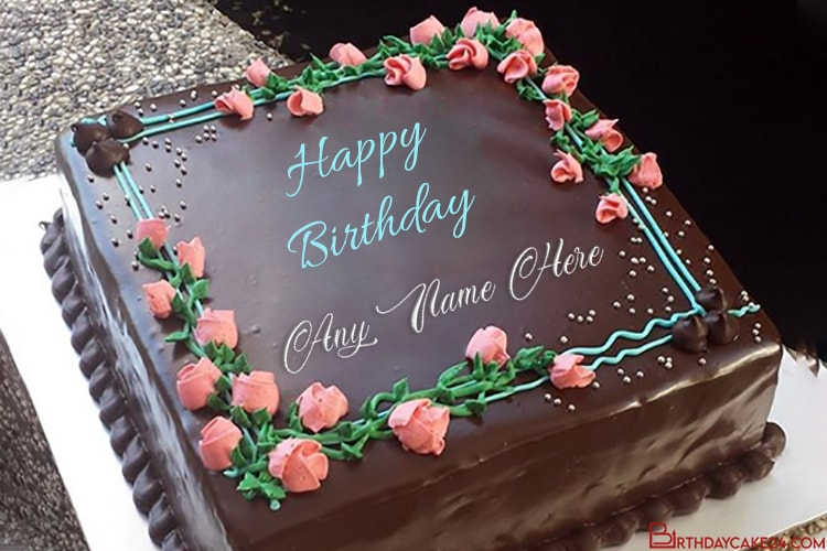 Write Name Wishes on Flowers and Chocolate Cakes