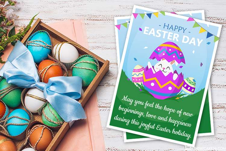 Happy Easter Day Card Images Maker Online