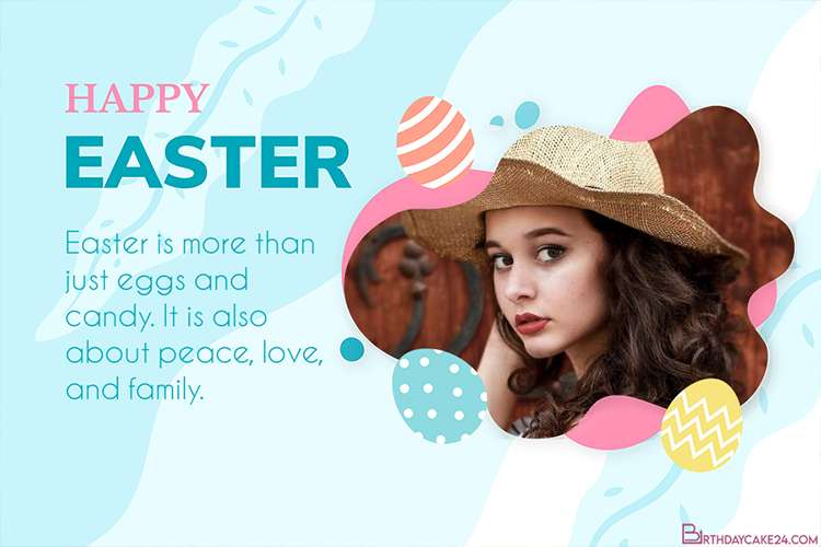 Happy Easter Day Cards with Photo Frame Online