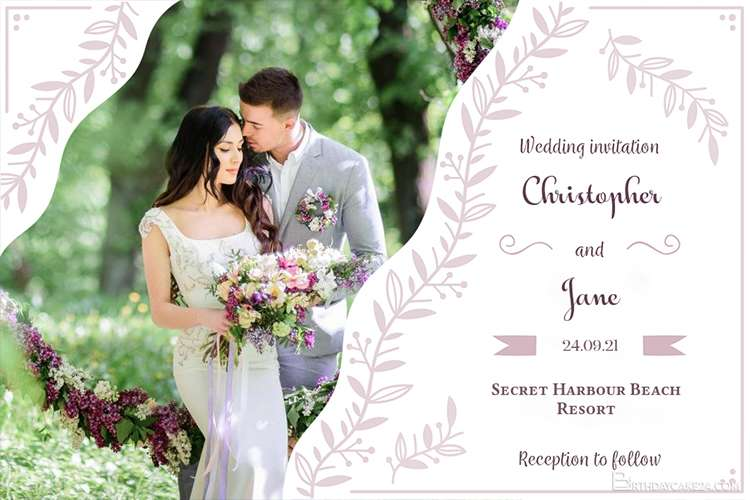 create wedding party invitations card online free