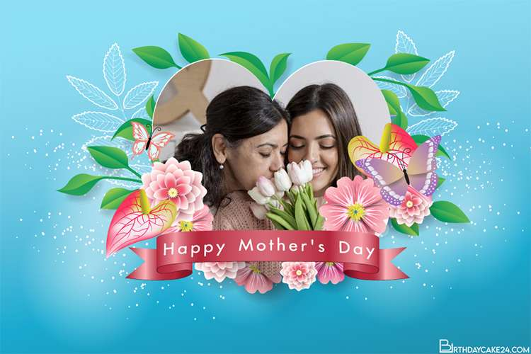 Lovely Flower Photo Frame for Happy Mother's Day